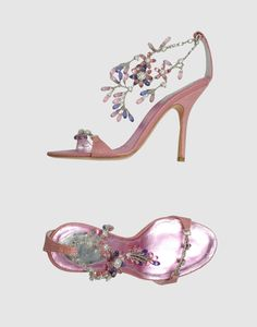 RENE CAOVILLA  Pink High-heeled Sandals