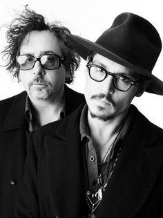 Tim Burton y Johnny Depp.
