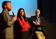 Director Rob Holder, Producer Ioanna Karavela & Executive Producer Dave Bunker taking part in an audience Q&A.