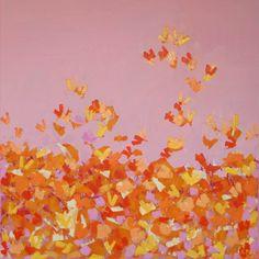 Akryl Butterflies Pink
