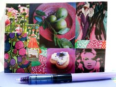 Handmade birthday card by Fifi's Dream, original art collage, OOAK, happy birthday, wisteria violet envelope. $4,94 USD     See: /www.etsy.com/nl/listing/129567270/handmade-birthday-card-original-art?ref=shop_home_active_5