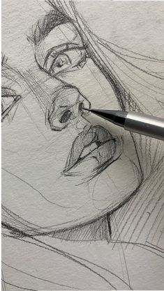 42 ideas drawing art ideas sketches creative sketchbooks for 2019 - Art sketchbook - Art Sketches Pencil Art Drawings, Cool Art Drawings, Art Drawings Sketches, Sketch Art, Face Sketch, Hair Drawings, Doodle Sketch, Realistic Drawings, Painting Collage