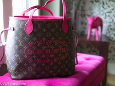 Louis Vuitton Neverfull Limited Edition Ikat MM Hot Pink Fuchsia Indian Rose SS2013 - http://vivacova.com/Blog/2013/09/louis-vuitton-neverfull-limited-edition-ikat-hot-pink-indian-rose-ss2013/