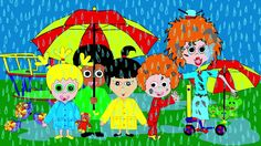 Rain Rain Go Away nursery rhyme, songs for kids, toddlers, children