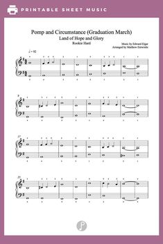 Pomp and Circumstance (Graduation March) by Edward Elgar Piano Sheet Music | Rookie Level