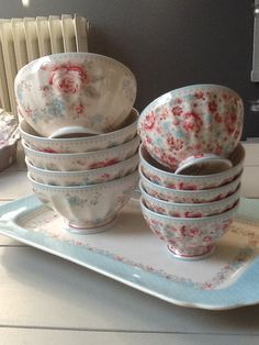 GreenGate Stoneware Bowls Malou. New GreenGate collection arrived at www.originated-shop.nl