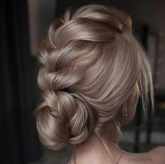 hair up styles hair up styles Style. Prom Hairstyles For Long Hair, Braided Hairstyles For Wedding, Box Braids Hairstyles, Bridal Hairstyles, Wedding Updo With Braid, Bridesmaid Hair Updo Braid, Prom Hair Updo Elegant, Relaxed Hairstyles, Gorgeous Hairstyles