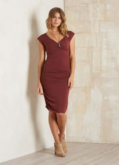Prana's shayla dress in raisin