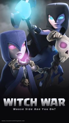 witch Clash Of Clans Logo, Coc Clash Of Clans, Clash Of Clans Game, Wallpaper Coc, Witch Wallpaper, Geeks, Dragons, The Clash, Epic Games