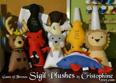 Game of Thrones Sigil Plushes by Cristophine.deviantart.com on @deviantART