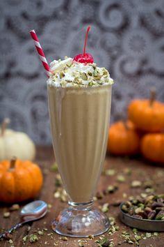 Whiskey & Pumpkin Milkshake for m upcoming book