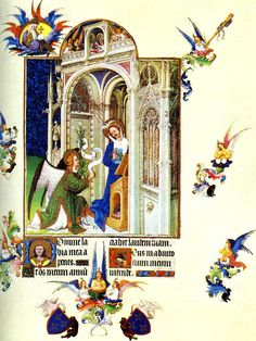 Limbourg brothers Annunciation Tres riches Heures du Duc de Berry c.1410 Chantilly Musee Conde