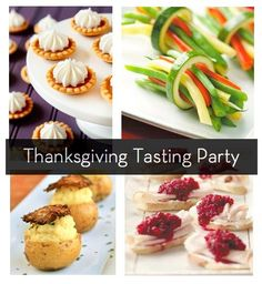 "How to throw a Thanksgiving ""tasting party"" -- menus, recipes, and tips! (even if not for TG, a good source for recipe links for tasting party/amuse bouche)"