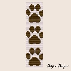 Give a Dog a Bone Loom Bracelet Cuff Pattern by LoomTomb on Etsy Loom Bracelet Patterns, Seed Bead Patterns, Bead Loom Bracelets, Peyote Patterns, Beading Patterns, Rainbow Loom, Beaded Banners, Native American Beadwork, Peyote Beading