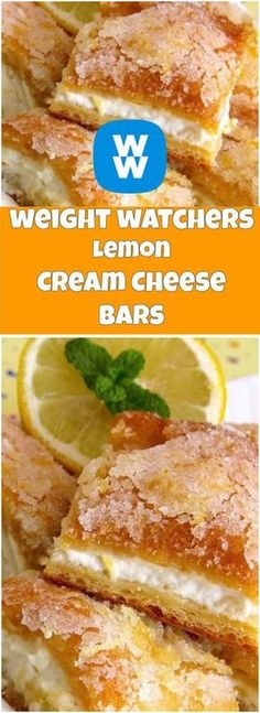 weight watchers Lemon Cream Cheese Bars | weight watchers cooking