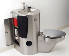 Check out this all in one stainless steel toilet