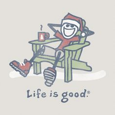Men's Jake Santa Adirondack Long Sleeve Crusher Tee  | Life is good
