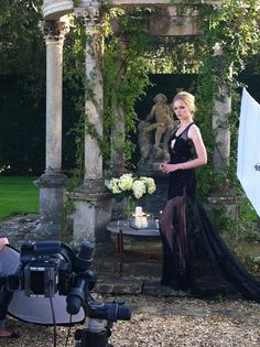 LINLEY gift accessories shoot featuring Katia Elizarova in Leon Max apparel