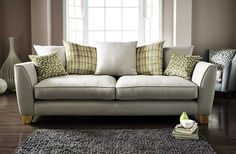 Fresh Greys & Greens in this Casual Contemporary Lauren Sofa Sofa, Couch, Green And Grey, Love Seat, Upholstery, Contemporary, January, Fresh, Furniture