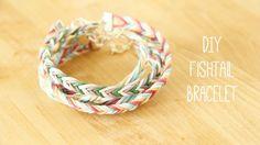 Jewellery Making: How to plait a DIY fishtail braid friendship bracelet tutorial - http://videos.silverjewelry.be/handmade-jewelry/jewellery-making-how-to-plait-a-diy-fishtail-braid-friendship-bracelet-tutorial/