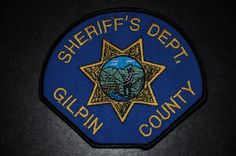 Gilpin County Sheriff Patch, Colorado (Vintage)