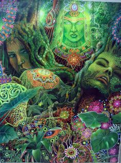 Ayahuasca, the vine of the Skies.strange images, inside my head were a natural part of the medication I was forged to ingest during my years on the psyche wards after being misdiagnosed. Art Visionnaire, Sacred Plant, Psy Art, Mystique, Art Graphique, Visionary Art, Trolls, Psychedelic Art, Trippy
