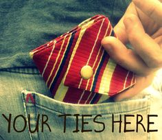 Upcycled necktie to wallet