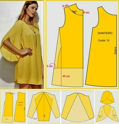 Easy sewing tips are available on our website. Check it out and you wont be sorry you did. Fashion Sewing, Diy Fashion, Ideias Fashion, Moda Fashion, Dress Sewing Patterns, Clothing Patterns, Costura Fashion, Sewing Sleeves, Sewing Blouses