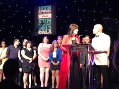 Kathy Buckley and Winn Claybaugh congratulating the First 100s. #FUNraisingGala #PaulMitchellEdu