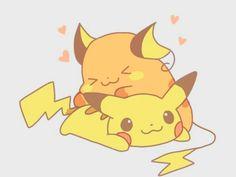 so sweet, #pikachu  raichu Pokemon Tumblr, Old Pokemon, Pokemon Images, Pokemon Fan Art, Pokemon Stuff, Pichu Pikachu Raichu, Cute Pikachu, Cute Pokemon Wallpaper, Original Pokemon