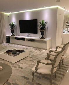 40 tv wall living room ideas decor on a budget 2 Living Room Decor Cozy, Living Room Tv, Cozy Living, Dining Room, Muebles Living, Home Interior Design, Living Room Designs, House Design, Wall Design