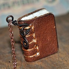 On Sale...   tiny leather journal book for a by JunqueTreasures, $17.95