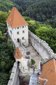Medieval Kokorin castle in the Czech Republic  Stock Photo