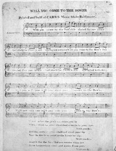 """The romantic ballad, """"Will you Come to the Bower?"""", was the song played at San Jacinto as the battle commenced. It became the """"unofficial"""" anthem of the Republic of Texas, a fond reminder of the victory. A description of the 1902 celebration of Texas Independence Day states, """"The band then played """"Come to the Bower,"""" the air to whose soft, lovesick, lackadaisical strains the Texans advanced to the charge on the field of San Jacinto."""" (Year Book for Texas , 1903, p.7, vol. II)"""