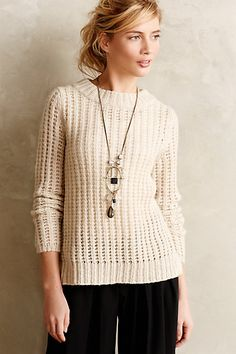 waffle stitch pullover #anthrofave