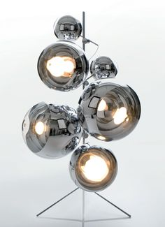 TOM DIXON, MIRROR BALL LIGHT TREE: holy crap. i love that this looks like it could be a deadly robot.