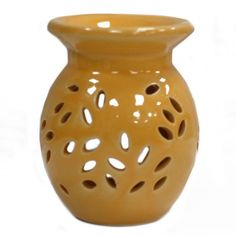 Our range of oil burners covers a huge selection of designs and colours and, whether you are using them as decoration or for infusing your home with fragrance, they are great value for money. As with all our oil burner items, they come with full safety information which we recommend you read before use. This item can be used with oil and water only. Always use a good quality standard tea light and do not overfill the dish. Material: Ceramic Suitable for Use With: Water and oils.