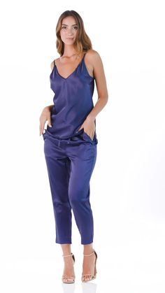 This pant has a beautiful fit and drape.Our Ankle Pant is 92% silk and 8% Spandex.Fabric weight is 22 momme Mulberry Charmeuse Silk. Very high quality silk. See and compare.The silk fibers are dyed with AZO free dye (healthier for you and the environment). #HazelMoon #LuxuryLoungewear Comfy Fall Outfits, Spring Outfits, Winter Outfits, Cute Sleepwear, Loungewear, Comfy Dresses, Ankle Pants, Spandex Fabric, Environment