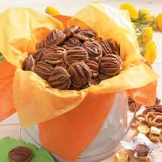 Pecan Caramel Candies Recipe - (These candies are fast and easy, but they look and taste like you did a lot of work.  Great for Holidays, Parties, & Gifts!)
