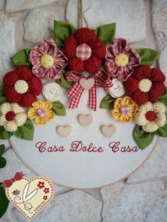 Diy Arts And Crafts Hobbies And Crafts Diy Crafts Wool Applique Applique Patterns Fabric Flowers Diy Flowers Crochet Flowers Craft Sale Home Crafts, Easy Crafts, Diy And Crafts, Crafts For Kids, Diy Lace Ribbon Flowers, Fabric Flowers, Homemade Bows, Shabby Chic Wreath, Small Sewing Projects