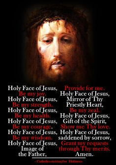 A BEAUTIFUL PRAYER TO THE HOLY FACE OF JESUS. – Catholics Striving for Holiness