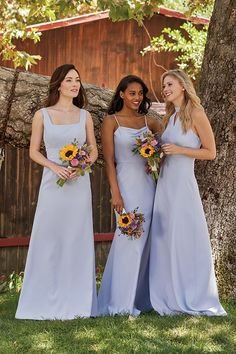 Jasmine Bridal is home to 8 separate designer wedding labels as well as two of our own line. Jasmine is the go to choice for wedding and special event dresses. Mix Match Bridesmaids, Plus Size Bridesmaid, Simple Bridesmaid Dresses, Bridal Dresses, Blue Wedding Colour Theme, Wedding Colors, Wedding Theme Inspiration, Jasmine Bridal, Dusty Blue Weddings