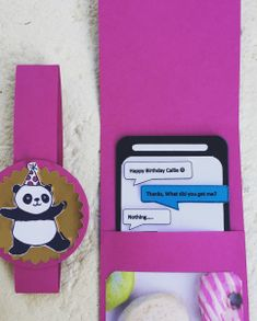 Mobile Phone Gift Card – Shannon Kissane, gift card packaging, Stampin' Up!, Picture Perfect Party DSP, Party Pandas, Paper Mobile Phone