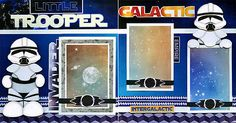 LITTLE-TROOPER-STAR-WARS-DISNEY-2-premade-scrapbook-pages-paper-piecing-CHERRY