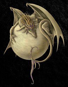Venus Dragon Painting  - Venus Dragon Fine Art Print Encontrado em fineartamerica.com