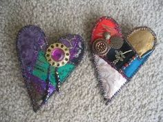 Pretty little fabric brooches