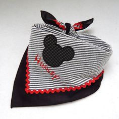 Get your pooch ready for DISNEY too! Personalized Mickey Mouse Dog Bandana by ElizabethAlanDesigns, $12.00