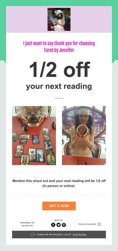 I just want to say thank you for choosing  Tarot by Jennifer