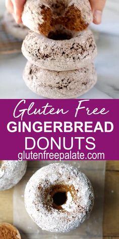 Gluten Free Bagels, Dairy Free Diet, Gluten Free Sweets, Gluten Free Baking, Gluten Free Recipes, Gluten Free Christmas Recipes, Christmas Donuts, Gluten Free Gingerbread, Pumpkin Recipes