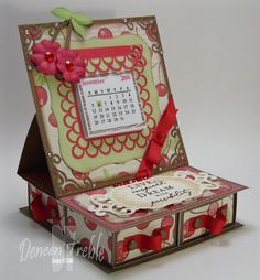4-Drawer Easel Calendar Box - bjl